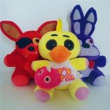 25cm Five Nights At Freddy's FNAF Plush Doll Freddy Bear Foxy Chica Bonnie stuffed Plush Toys Kid Children Dolls