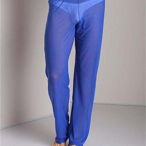 Transparent Long Pants Sexy Men Loose Mesh Lounge Loose-Fitting Fitness Pants Pyjama Trouser Sleep Pant Gay Lingerie FX1016 Karachi
