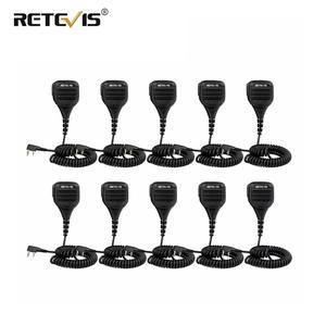 Image 1 - 10pcs Loud and Clear PTT Speaker Microphone With 3.5mm Audio Jack For Kenwood Retevis RT5R H777 RT5  For Baofeng UV5R 888S Radio