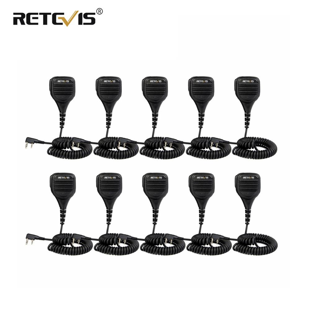 10pcs Loud and Clear PTT Speaker Microphone With 3.5mm Audio Jack For Kenwood Retevis RT5R H777 RT5 For Baofeng UV5R 888S Radio