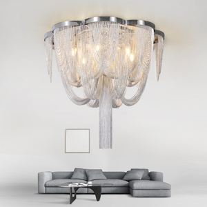 Image 5 - Included LED Bulb E14 Base Fashional Modern Pendant Light Aluminum Chains Pendant Lamps For Dining Room/Hotel/Bedroom