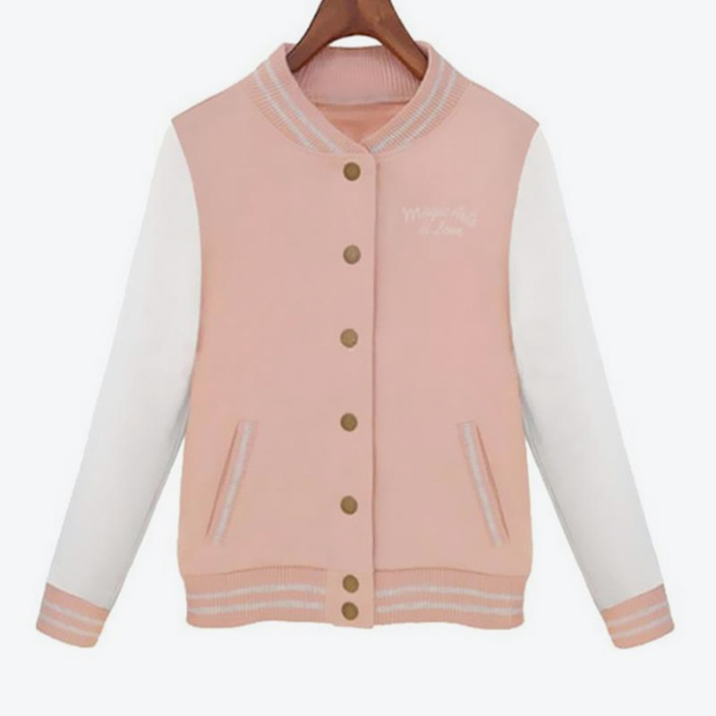 1a64a824dc155 US $13.13 35% OFF| Splice Sleeves Baseball Jackets Autumn Harajuku  University Style Women Bomber Jacket 2018 New Fashion Casacos Femininos-in  Basic ...