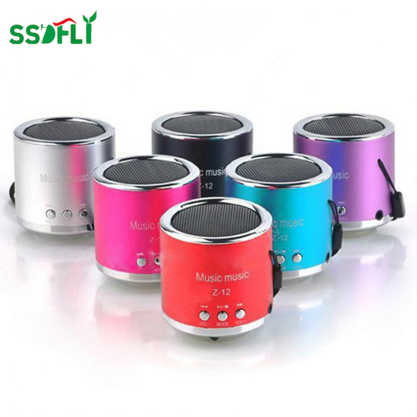 Ssdfly 2018 Hot Mini Z-12 Aluminum Alloy, Small Cylinder Plug, Memory Card, Audio Gifts, Speakers, Mini U Disk Stereo Sound