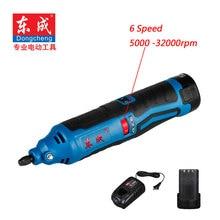 HQ 12V Cordless Die Grinder 6 Speed Cordless Mini Grinder 5000-32000rpm (2Pcs 12V Battery 3.0mm Chuck)