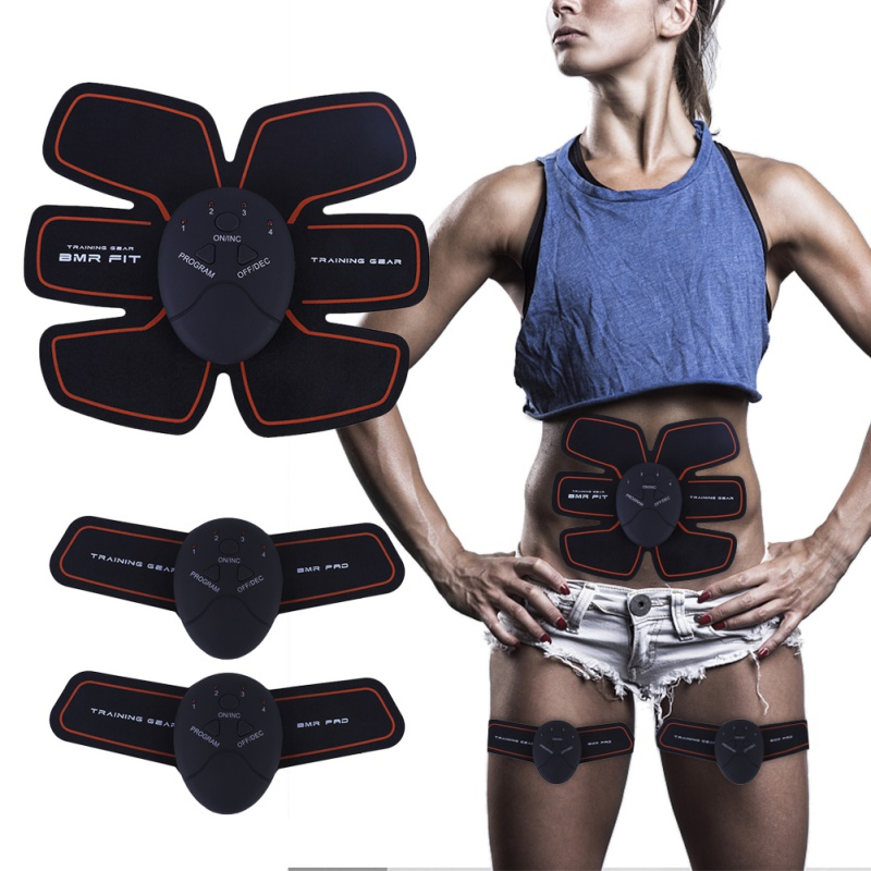 Electric Muscle Massage Weight Loss Slimming Device Training Abdominal Stimulation Body Exercise Relax GearA in Ab Rollers from Sports Entertainment