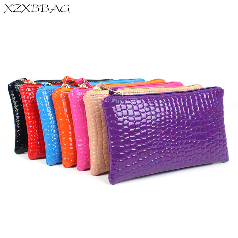 XZXBBAG Fashion Simplicity Alligator Zipper Coin Purse Female Long Zero Wallet Cheap Change Purse 2017 New Design Handbag XB097 xzxbbag fashion female zipper big capacity wallet multiple card holder coin purse lady money bag woman multifunction handbag