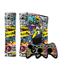 NEW Bombing Vinyl Decal Skin Sticker for Microsoft Xbox 360 slim and 2 controller skins sticker  bomb  for x box 360 xb3177