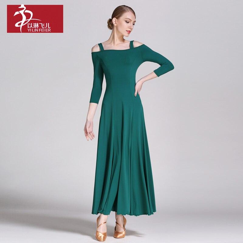 2017Ny kvinna balsal Standard dans klänning dans kläder stadium balsal klänning