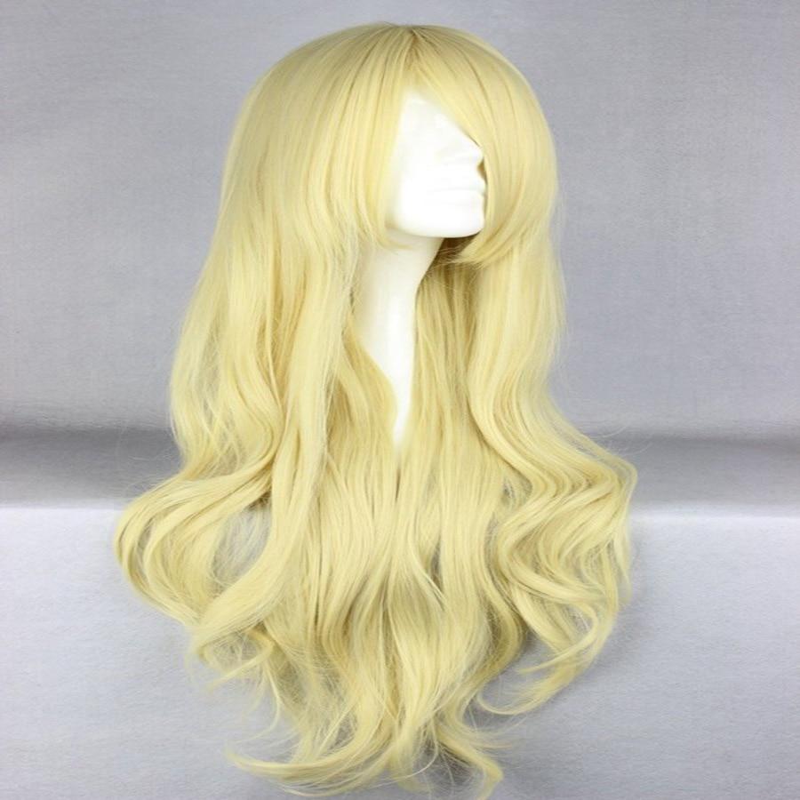 HAIRJOY Synthetic Hair Zipper 70cm Long Wavy Harajuku Lolita Cosplay Wig 18 Colors Available 105