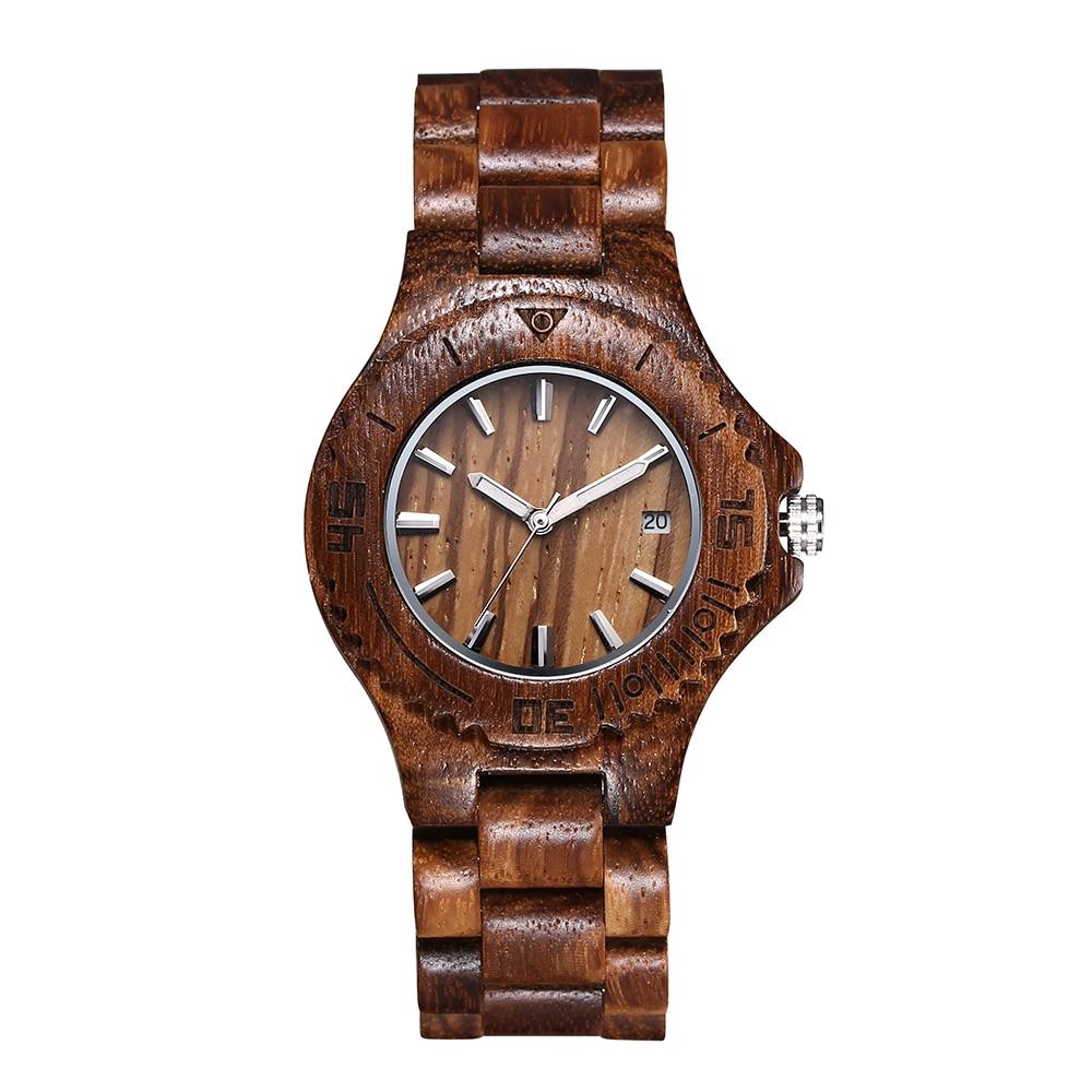 Fashion Nature Wood Wrist Watch Analog Sport Bamboo Black men wooden watch leather Women Gift men wooden quartz watch цена 2016