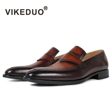 Superstar Vikeduo Handmade Men's Loafer Shoes Custom 100% Genuine Leather Fashion Casual Luxury Wedding Party Original Design 2018 sale vikeduo handmade mens loafer black suede 100
