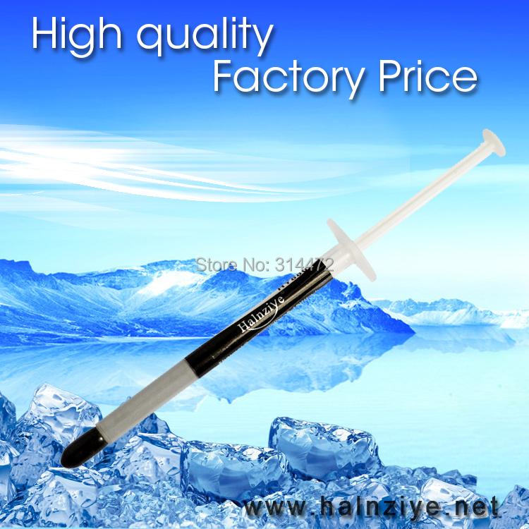 Prix pour Halnziye HY880 1g nano à base de silicone conduction thermique pâte graisse composé avec 5.15 W/m-K 100 pcs