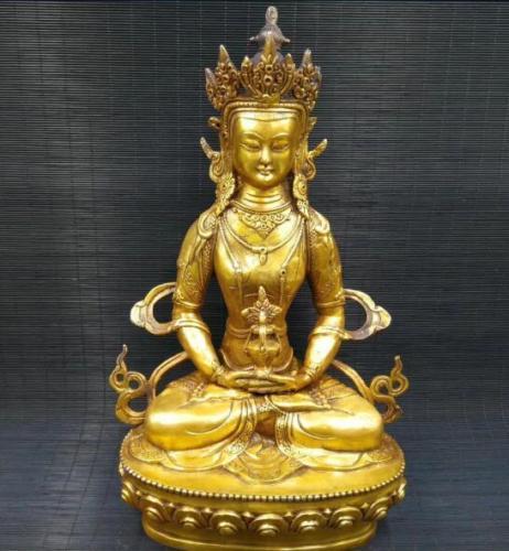 China Tibetan Buddhism Brass statue King Kong Buddha
