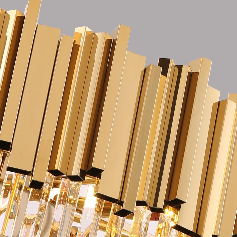 Image 5 - Youlaike Round Gold Crystal Chandelier For Ceiling Luxury Modern Bedroom LED Lustres De Cristal Home Indoor Lighting Fixtures-in Chandeliers from Lights & Lighting