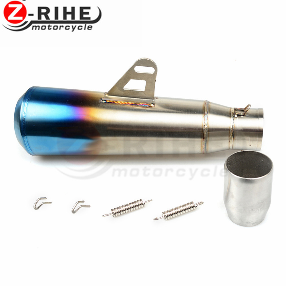for kawasaki z900 z800 z750 Universal Motorcycle Escape Motorcross Scooter Exhaust Pipe Muffler Z750 R1 R6 MT03 FZ1 Ninja ER6N