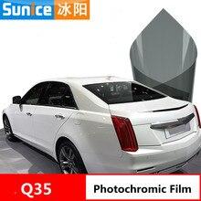Фотохромная пленка формата А4 с высоким УФ ИК-излучением, нано Керамическая Солнечная Тонирующая пленка для автомобиля, боковое окно, ПЭТ, пленка для контроля от солнца