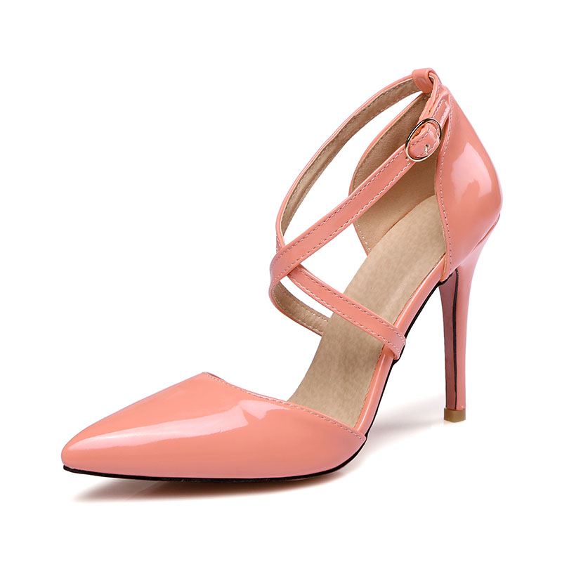 Spring/Autumn Women Pumps Women's Shoes Buckle Strap High Heel Thin Heels Pointed Toe Casual Fashion Cross-tied Shallow Solid  цены онлайн