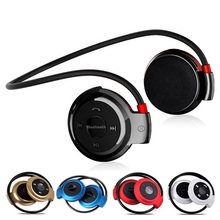 Mini 503 Neckband Wireless Bluetooth Headset Handsfree With MIC Sport Stereo Earphones Support TF Card for Mp3 Player Ecouteur 2017 mini503 ear hook mini sports wireless bluetooth headset hi fi handsfree stereo earphone headphone tf card for mp3 player