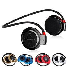 JQAIQ Neckband Wireless Bluetooth Headset Earphone Handsfree With Mic Sport Stereo Earphones Support Tf Card For Mp3 Player(China)