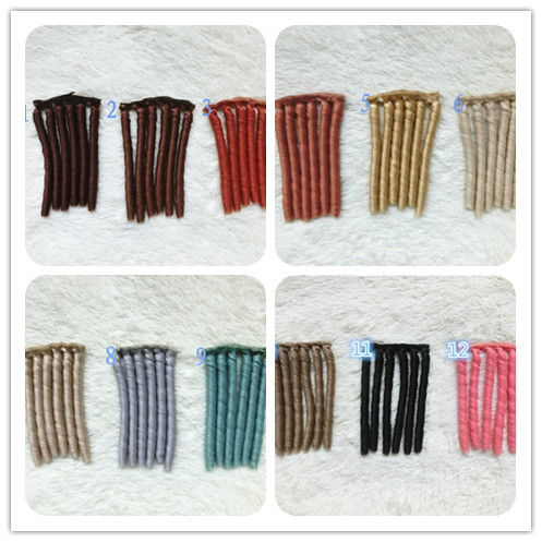 12Colorful hair refires bjd hair 15cm*100cm black gold brown khaki grey color short straight wig hair for 1/3 1/4 BJD diyS48-S59
