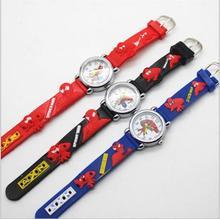Горячие распродажа, модная обувь Человек-паук часы Дети часы Стильная футболка с изображением персонажей видеоигр часы классная детская 3d резиновая кварцевые часы Relogio часы час подарок