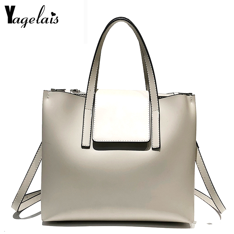 Ladies Handbag Pu Leather Large Shoulder Bag For Women Shoulder Bag Shoulder Strap High Quality Shopping Hand Bag
