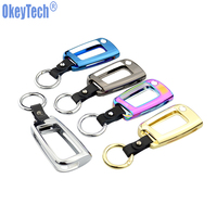 OkeyTech Zinc Alloy Leather Car Remote Key Cover Case Keychain For Volkswagen VW Tiguan Golf 7
