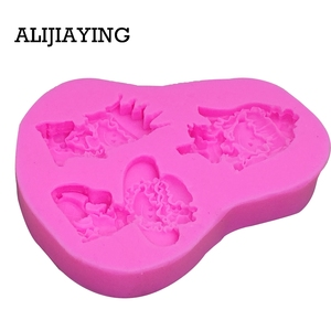 Image 3 - M0119 Girl princess bride cake decorating tools Liquid 3D Silicone Mold DIY baking accessories