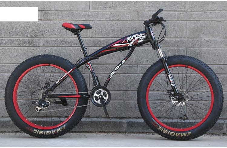 "HTB1lrq8GVmWBuNjSspdq6zugXXa9 Youma new arrival 7/21/24/27 speeds Fat bike 26 inch 26x4.0"" Fat Tire Snow Bicycle free shipping"