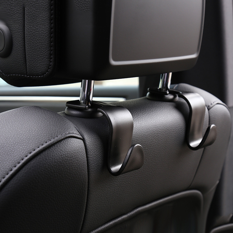 2pcs Universal Car Seat Back Hooks Hanger Auto Organizer For Grocery Trunk Coat Purse Bag Sundry Hook Headrest Mount Storage