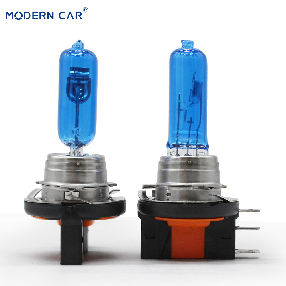 MODERN CAR 2pcs H15 6000K White Halogen Xenon Light Bulbs 12V 25W 55W DRL Daytime Running