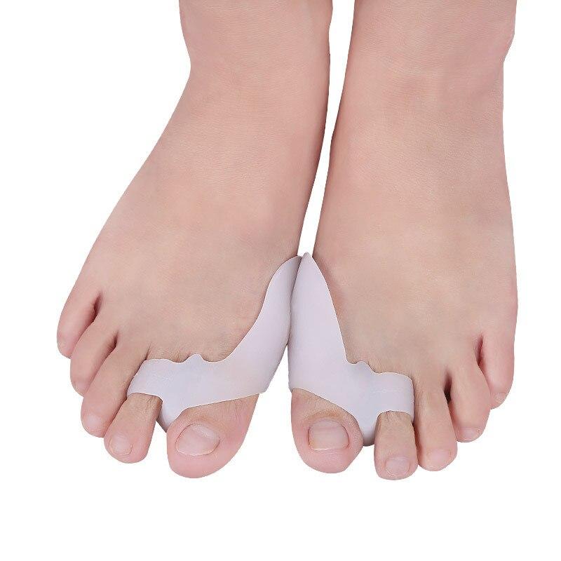 1 Pair Silicone Gel Hallux Valgus Corrector Big Toes Separators Foot Care Pedicure Device Bunion Adjuster Bone Thumb Orthotics