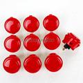10x Original Sanwa OBSF-30 Push button Built-in Micro Switch For Arcade Machine Joystick Mame Jamma PC games 30mm Buttoons - Red