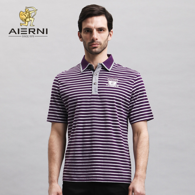 d6ab0e5a6bd 13 spring and summer men s elringklinger clothing business casual stripe t- shirt 100% lt101042 cotton polo shirt