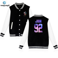 02 BTS Kpop Baseball Jacket Winter Hoodies Women 2018 Popular Bangtan Hip Hop Harajuku Sweatshirt Women