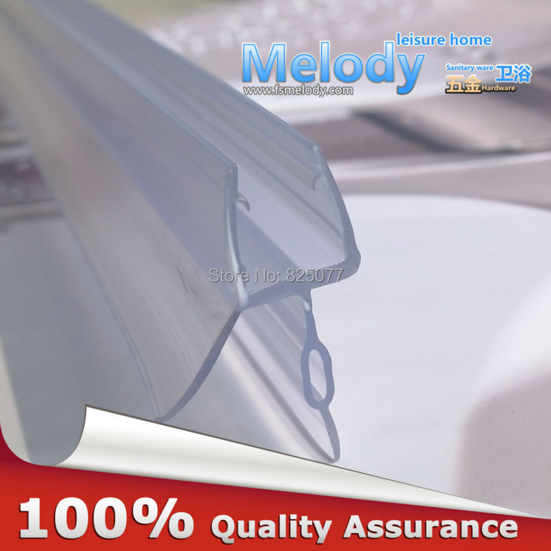 Plastic Rubber Bath Shower Screen Door Seal Strips 6 10mm Glass Door  10 17mm Gap Length:700mm
