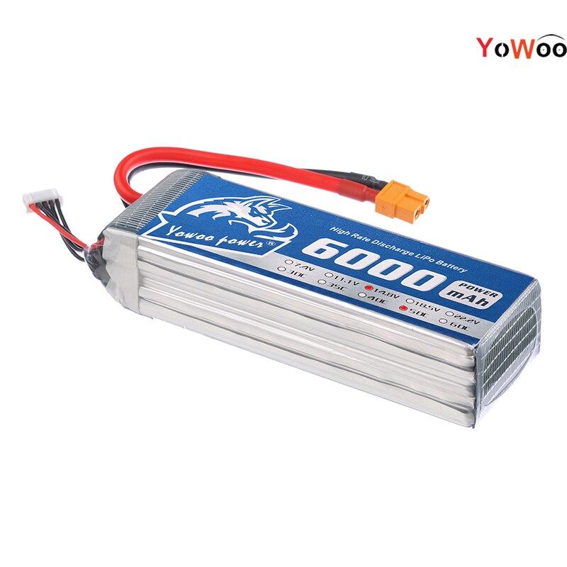 14.8 v 4 s lipo batería 6000 mah YOWOO POWER bateria polmer 50c max - Juguetes con control remoto