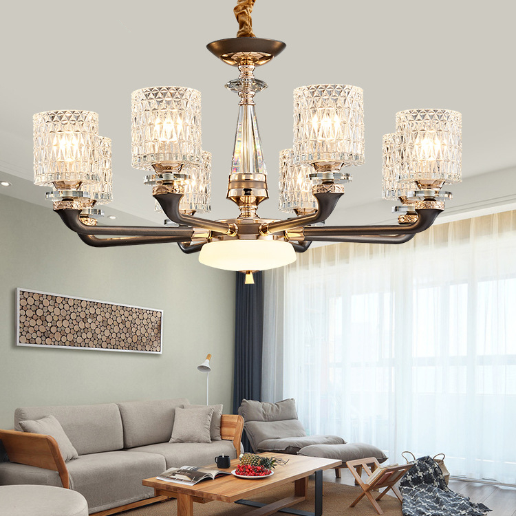 Led Crystal Chandelier Living Room Suspension Luminaires Luxury Deco Lighting Fixtures Bedroom Hanging Lights Home Pendant Lamps