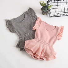 Ruffle Knitted Clothes Clothes