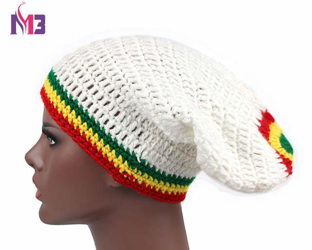 c1d51e9555f54 placeholder Fashion Unisex Rasta Hat Winter Warm Handmade Knitted Crochet  Hats Jamaican Beanie Caps Hip Hop Cap