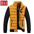Chaqueta de invierno Abrigos 2017 Nueva Slim Fit Soporte de Cuello de Algodón Acolchado Parkas Marca de Moda Abrigos Chaquetas Abrigos 3XL 4XL X396