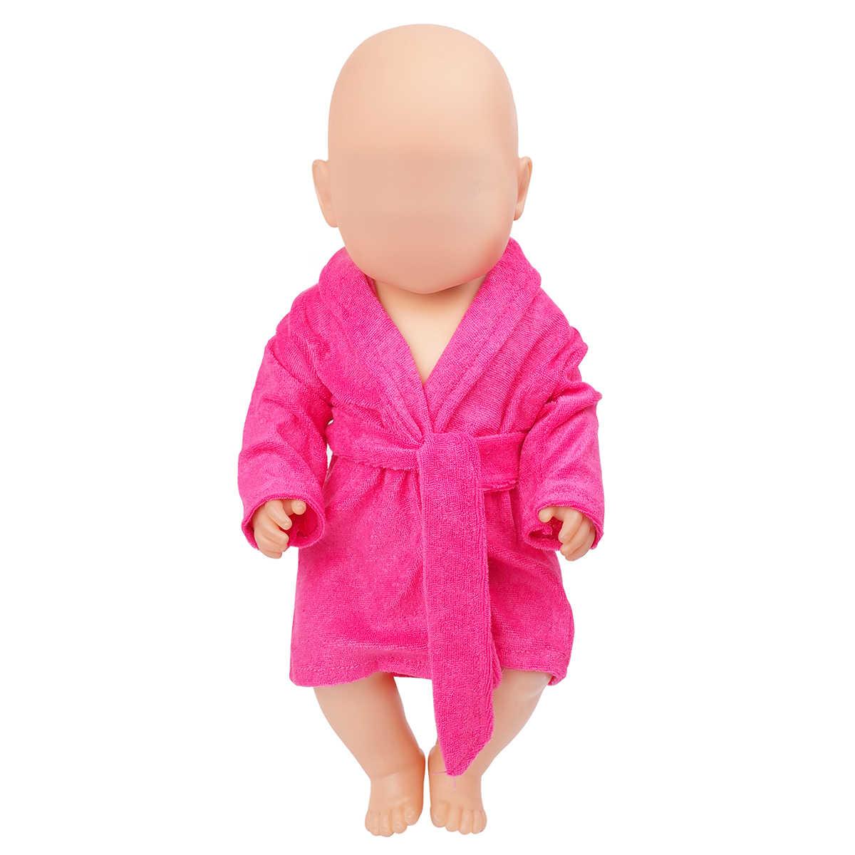 PellyBaby 人形服ローブ新生児パジャマフィット 40-43 センチメートルベビードールバスローブ、紫、ピンク、赤バラ