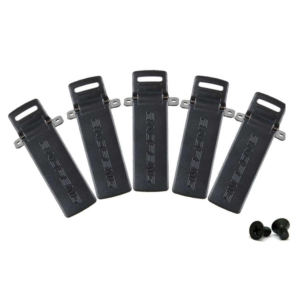 5 pçs baofeng rádios UV-5R clipe de cinto para baofeng UV-5R UV-5RA UV-5RB UV-5RC tyt TH-F8 presunto rádio walkie talkie acessórios