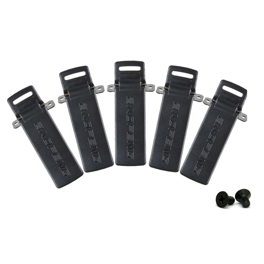 5 pcs Baofeng radios UV-5R Clip Ceinture pour BAOFENG UV-5R UV-5RA UV-5RB UV-5RC TYT TH-F8 Jambon Radio Talkie Walkie Accessoires