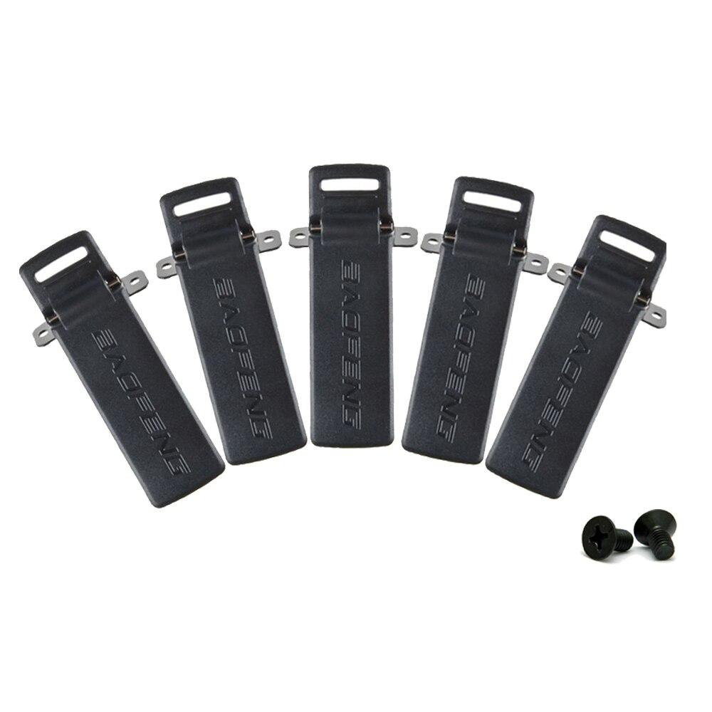 5 stücke Baofeng radios UV-5R Gürtel Clip für BAOFENG UV-5R UV-5RA UV-5RB UV-5RC TYT TH-F8 Ham Radio Walkie Talkie Zubehör