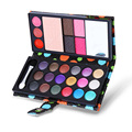 Fashion 18 color eye shadows +2 blush + pressed powder +3 Lip frozen 2 Eyebrow Professional Makeup Sets Wallet eyeshadow tools
