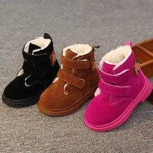 Детская обувь; детские зимние ботинки; Детские Ботинки martin для малышей; От 1 до 3 лет для мальчиков и девочек; Детские хлопковые ботинки