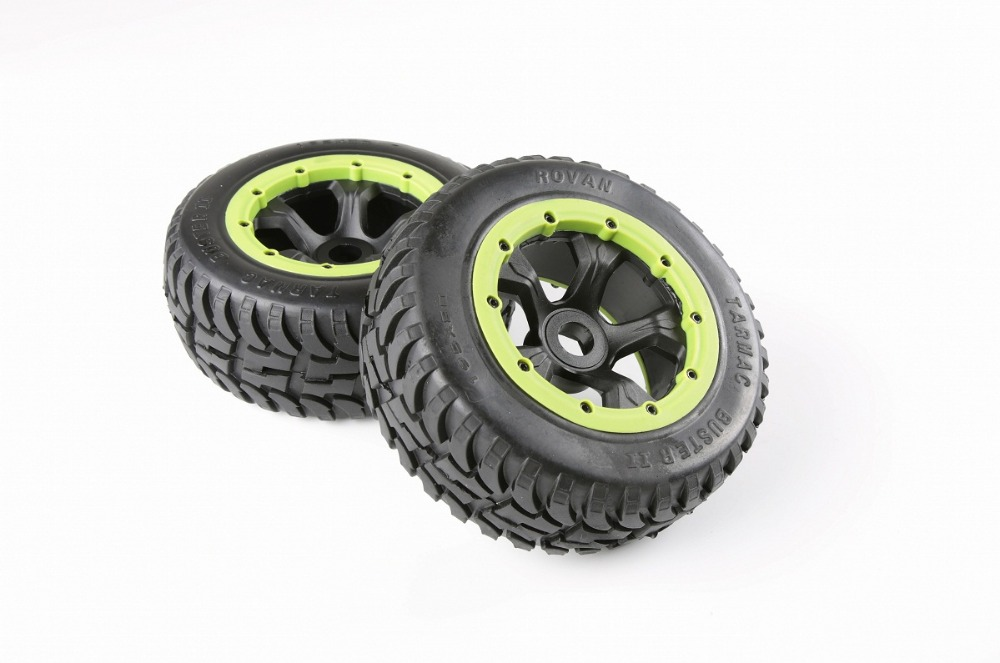Rear off-road Wheel Tire Rim set fit HPI KM Rovan 1/5 baja 5T 5SC king motor truck front sand buster tyres tire set with nylon wheel 2pcs for baja 5b hpi km rovan