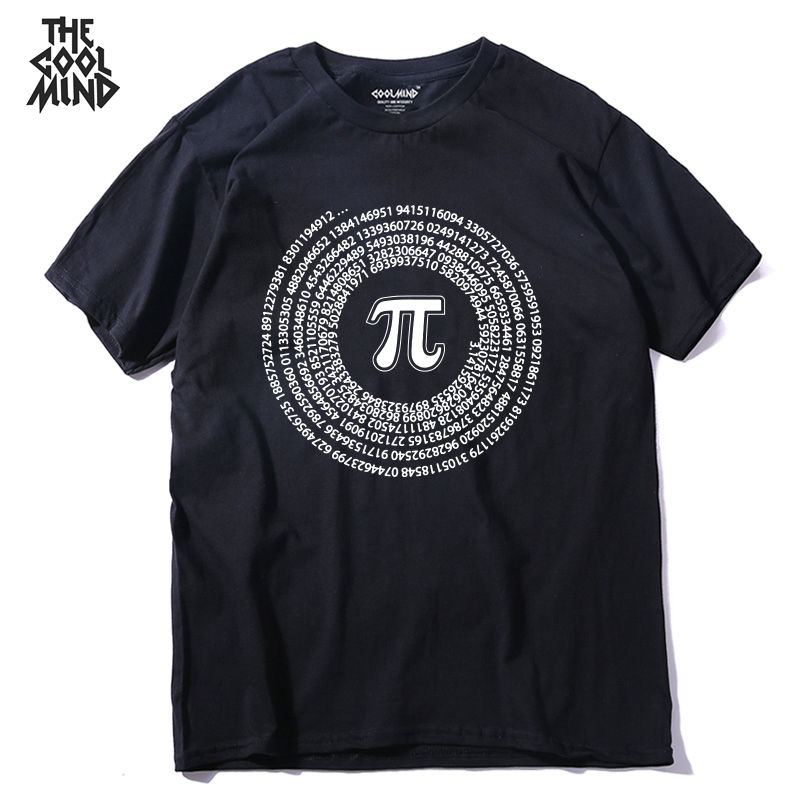Men T-Shirt Short-Sleeve COOLMIND Math-Printed Funny Street-Style Casual 100%Cotton O-Neck