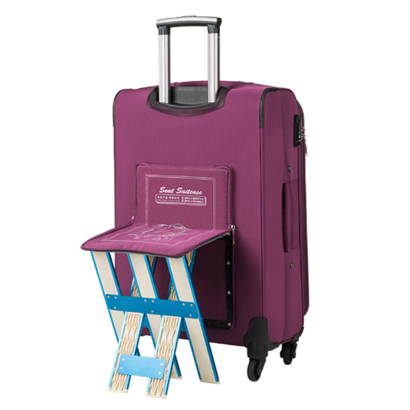 Rolling Luggage Luggage & Bags waterproof Nylon Trolley Case,women Suitcase Can Be Sitting New Rolling Luggage Bag With Chair,men Travel Suitcase With Wheel